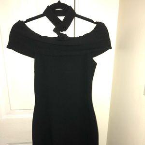 Black Choker Off The Shoulder Dress